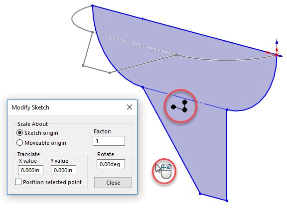 Modify Sketch mouse icon