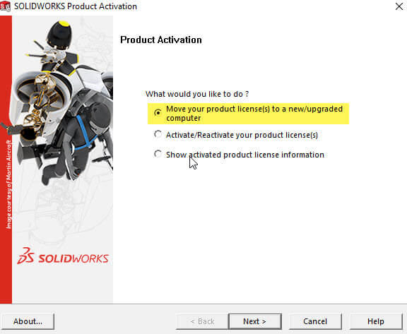 SOLIDWORKS Activation Wizard