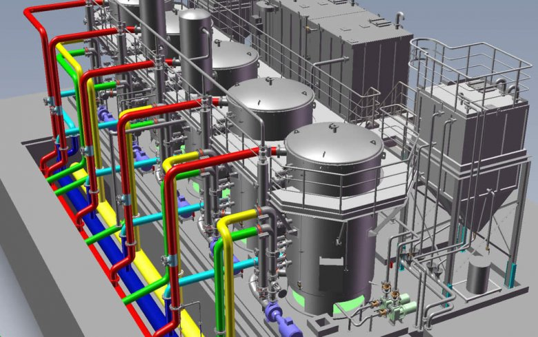 SOLIDWORKS 3D CAD for oil and gas processing equipment