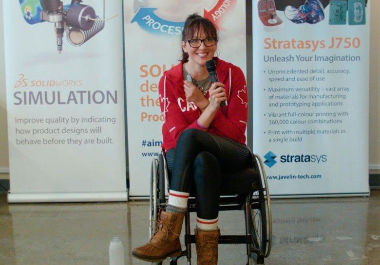 Dalhousie students use SOLIDWORKS to redesign parathlete's wheelchair