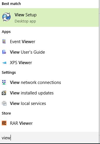 Type View Setup