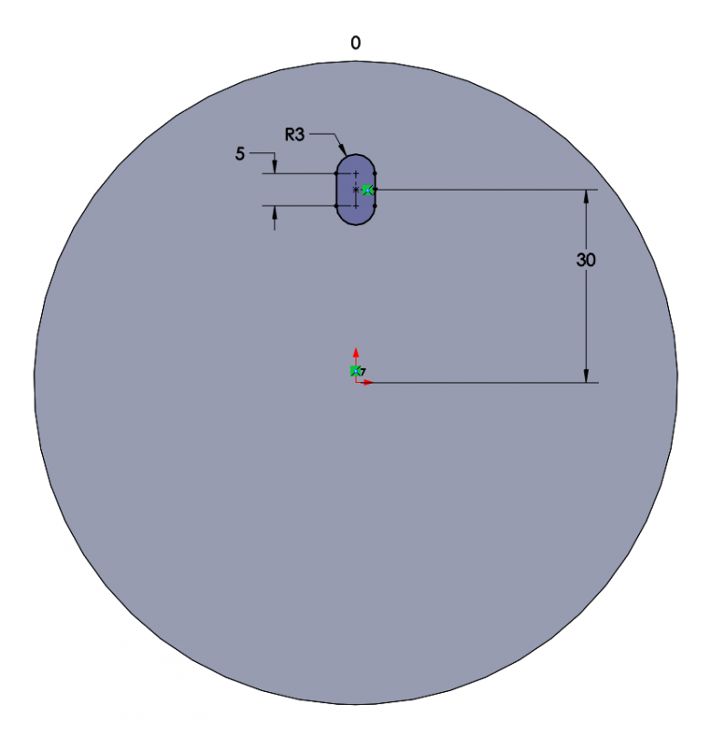 FIGURE 1: SOLIDWORKS Cut Profile Sketch