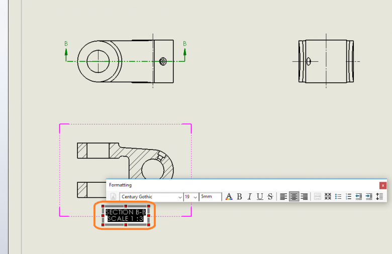 Double Click the Drawing View Label to Edit