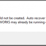 Warning – A Journal File Could not Be Created. Another SOLIDWORKS Session Running