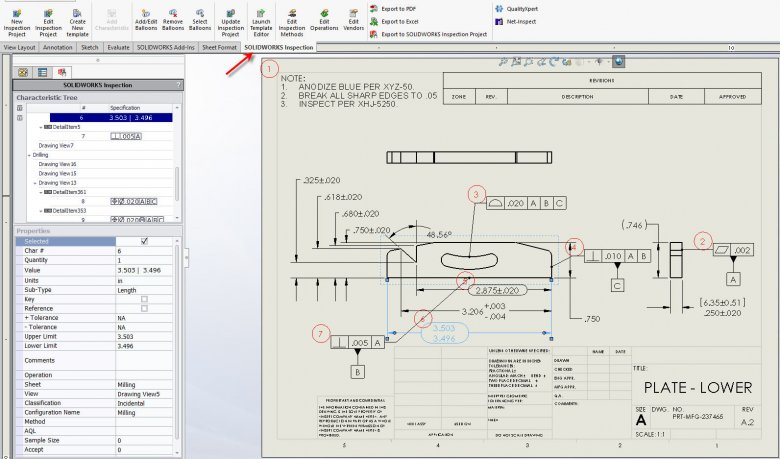 SOLIDWORKS Inspection Add-in Quality Inspection Process