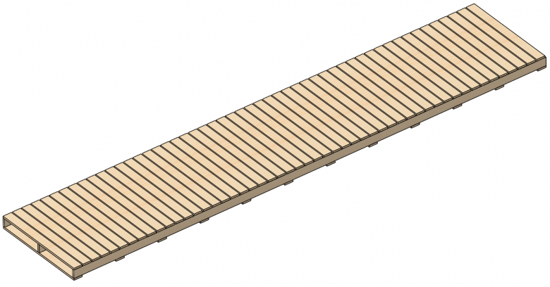 SOLIDWORKS Weldment configurations contain bodies patterned to any length