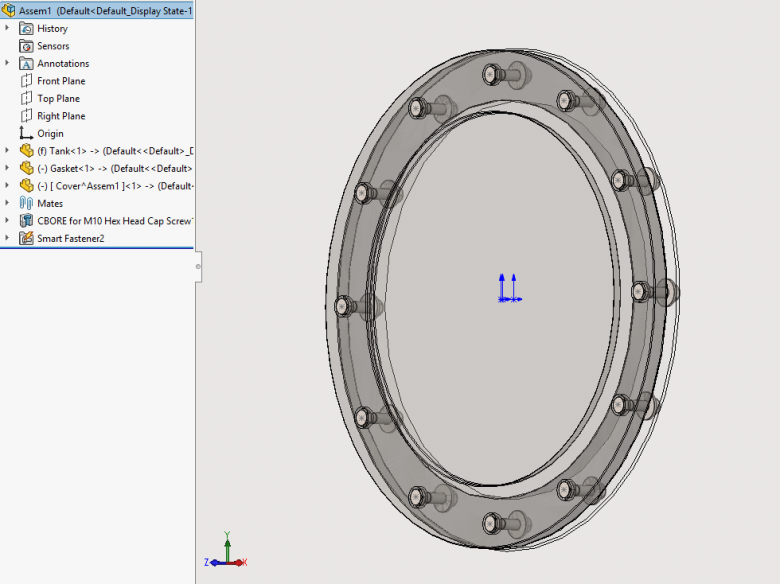 SOLIDWORKS Hole Series make it easy to change fastener size or type