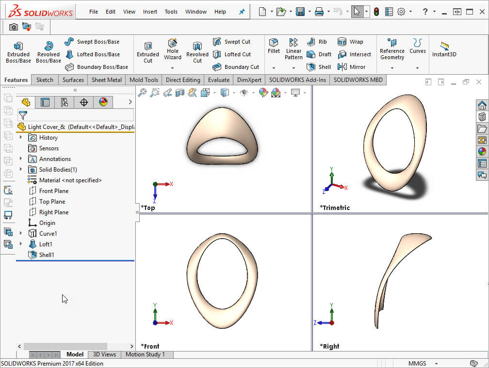 SOLIDWORKS Viewports