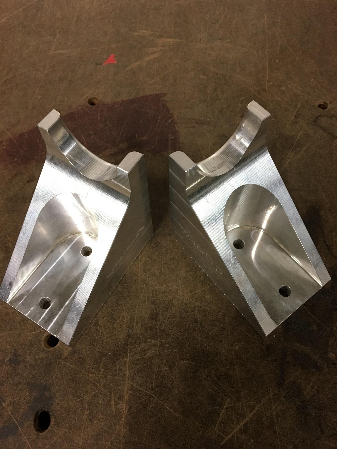 Original solid O2 tank mounting brackets