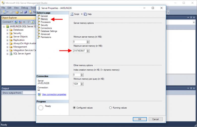 Microsoft SQL Standard Memory Limit