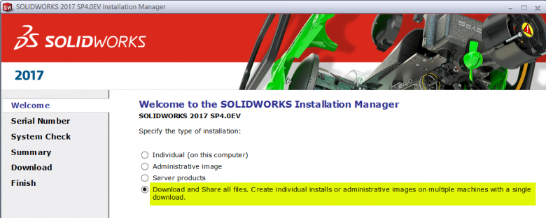 Download SOLIDWORKS Upgrade Installation files