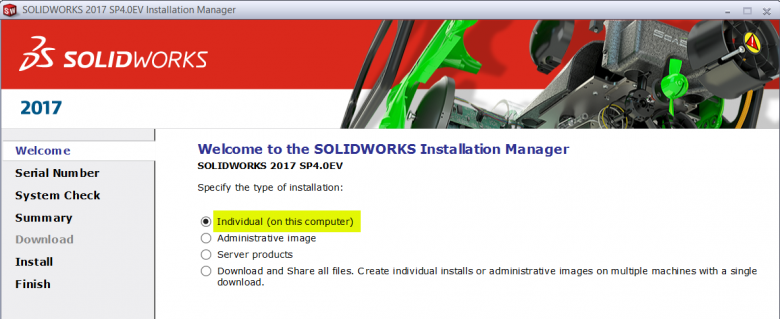 Create a New SOLIDWORKS Upgrade Installation