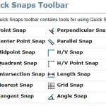 SOLIDWORKS Quick Snaps Toolbar