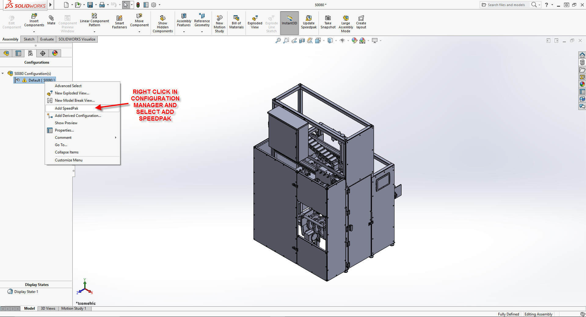 how to increase solidworks performance when using vendor models