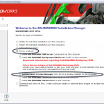 How do I upgrade the SOLIDWORKS SolidNetwork License Manager?