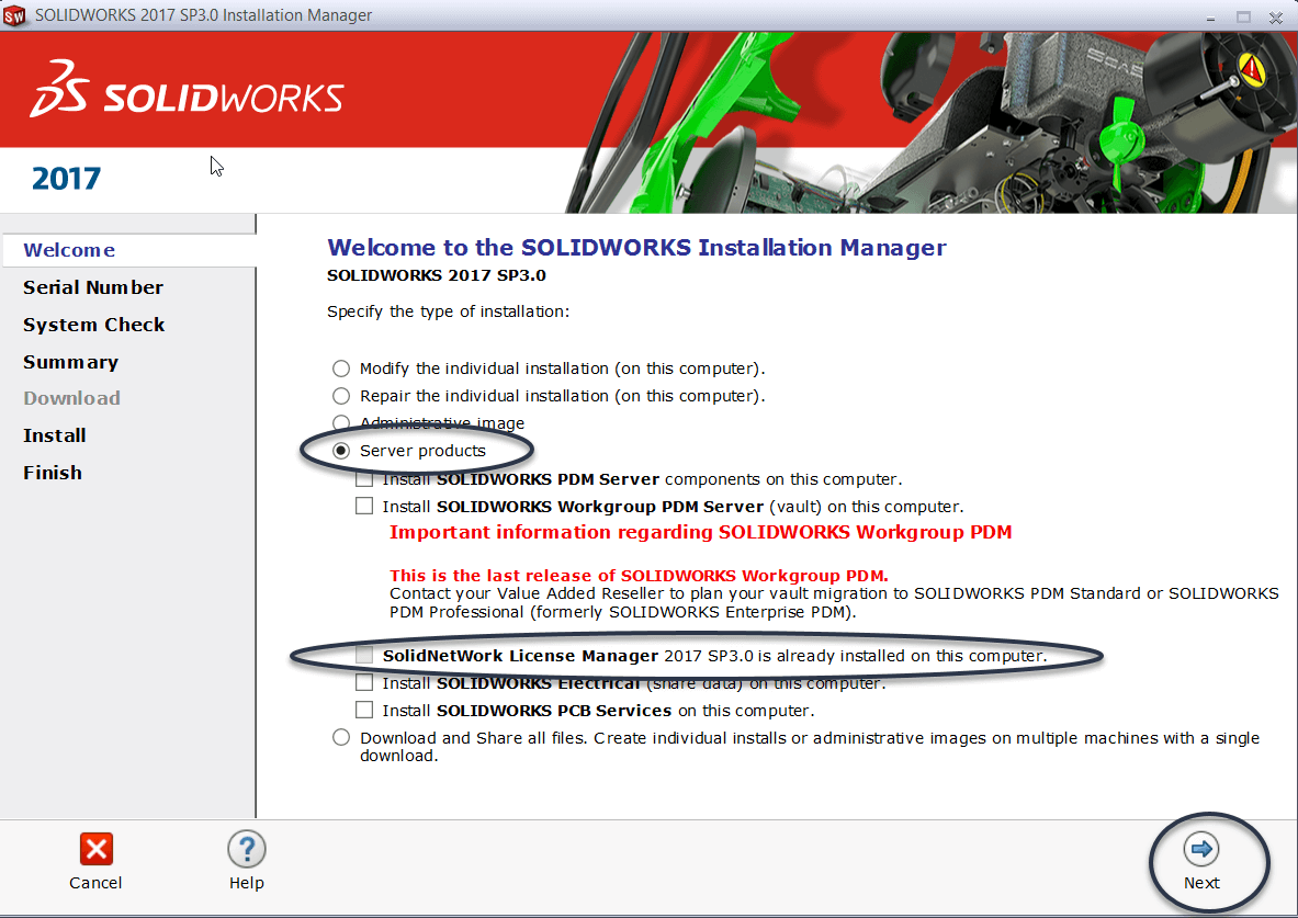 upgrade SOLIDWORKS SNL Manager