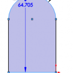 Select the outside of an Arc rather than the center when adding a dimension in SOLIDWORKS