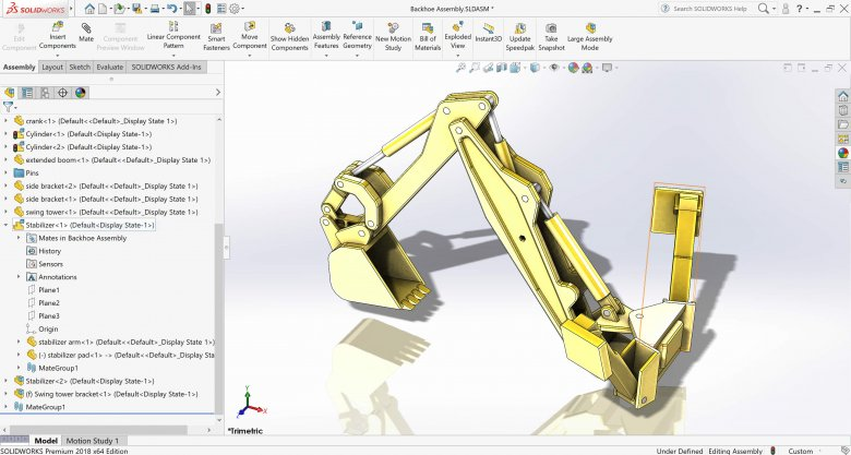SOLIDWORKS Rigid Sub-assembly