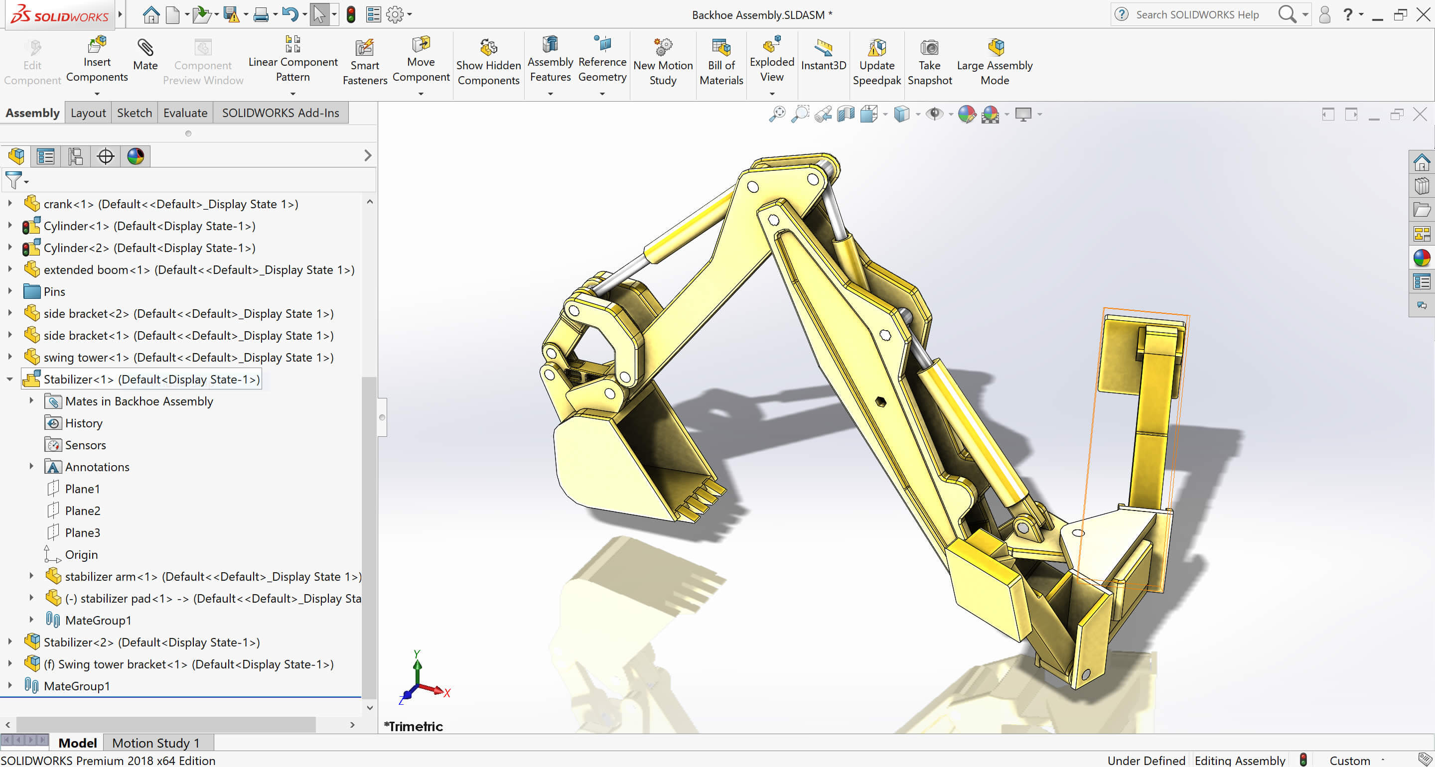How to mate a moving component of a SOLIDWORKS Rigid Sub-assembly