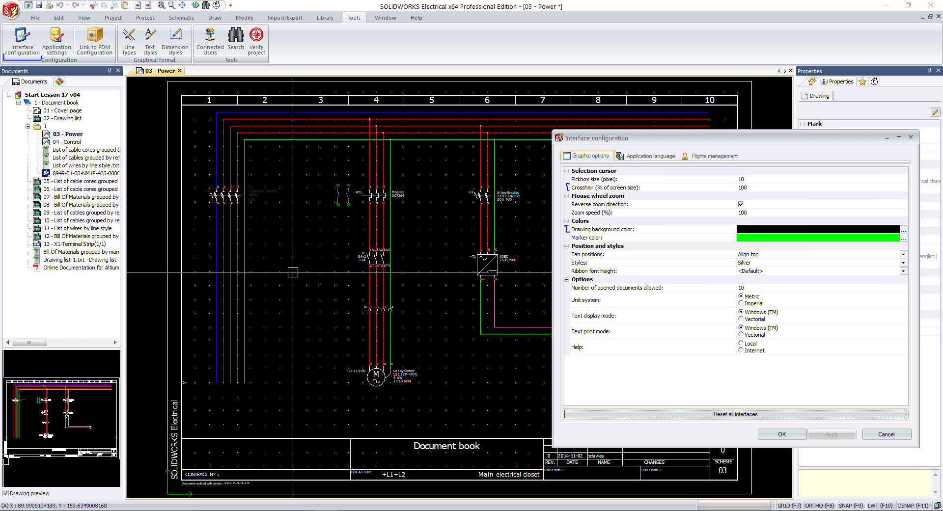 How to change the SOLIDWORKS Electrical Drawing Background Colour