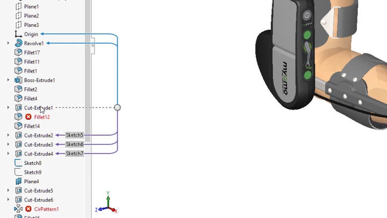 SOLIDWORKS Feature Tree Organization