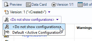 Change the view from Default <Active Configuration> to <Do Not Show Configurations>