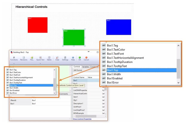 DriveWorks Hierarchical Control