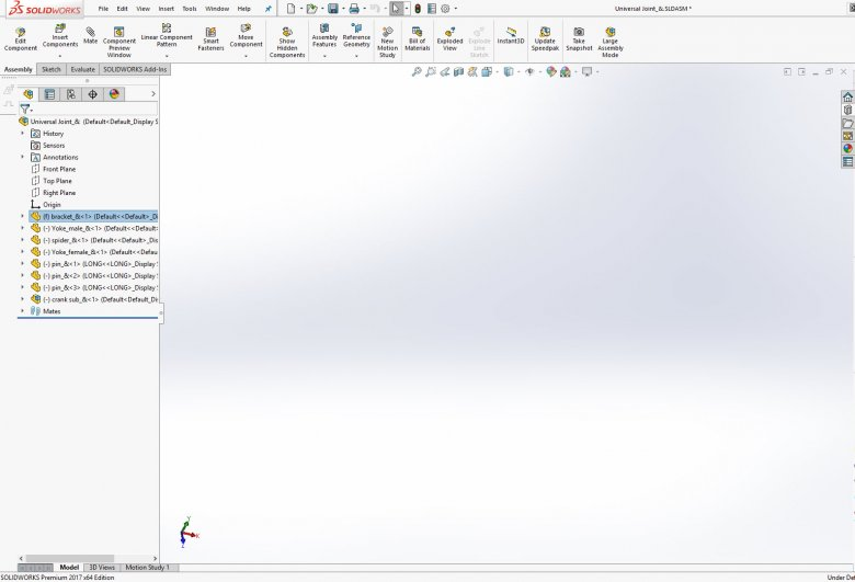 Blank SOLIDWORKS Assembly