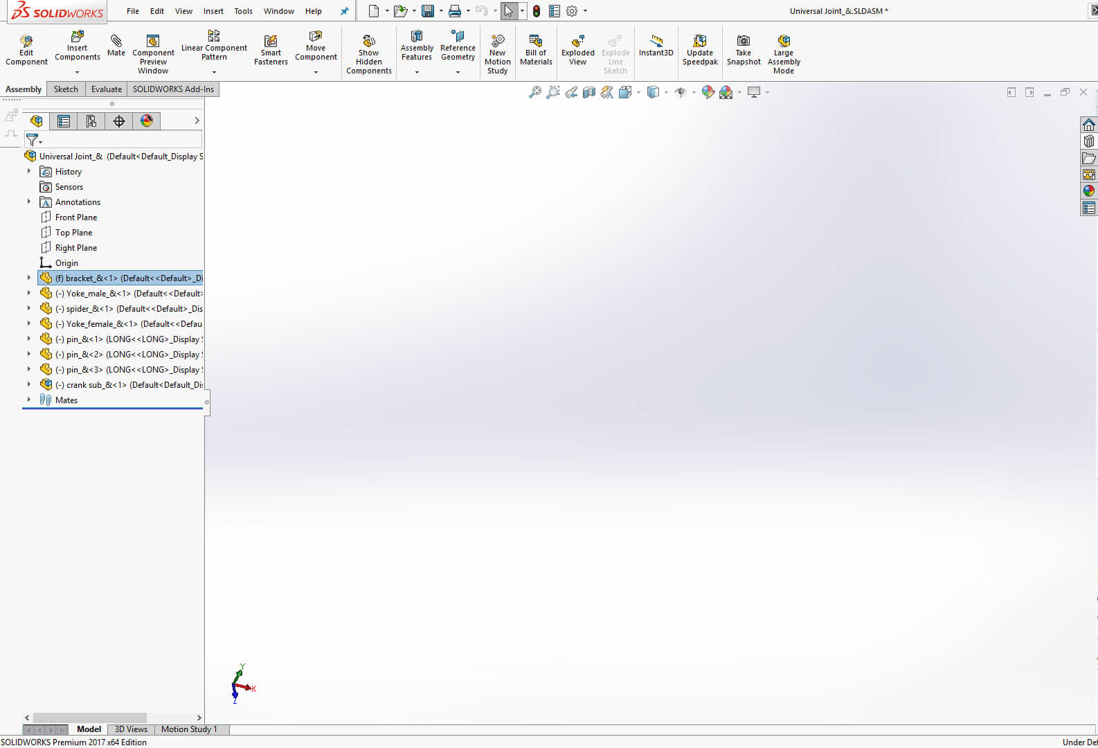 Learn how resolve a Blank SOLIDWORKS Assembly