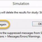 SOLIDWORKS Simulation 2018 Dismiss Message