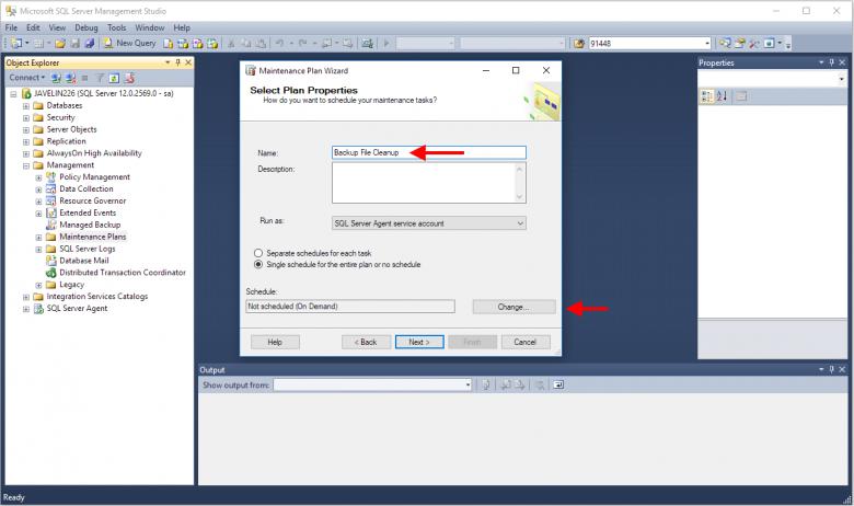 Removing Old SQL Database Backups