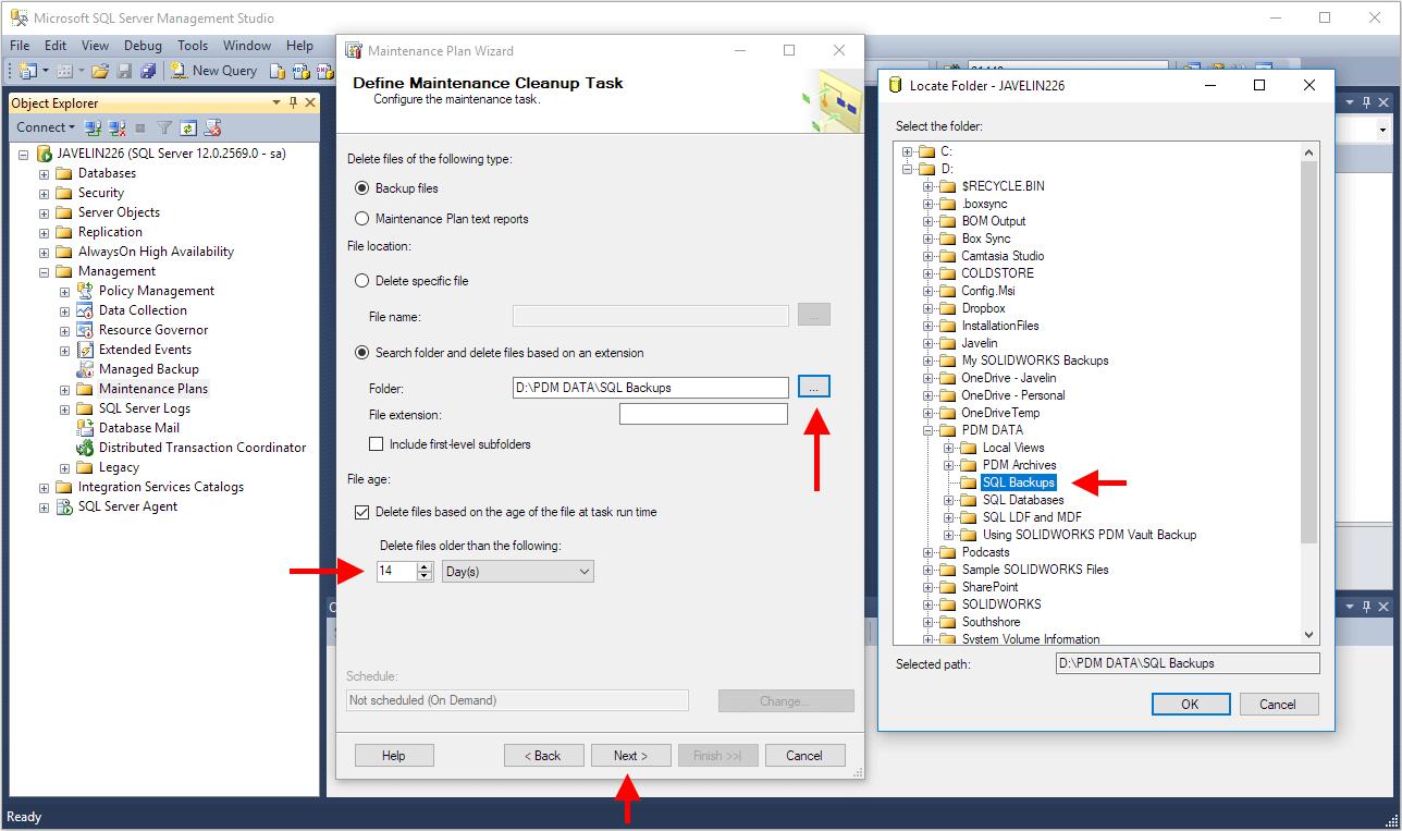 Removing Old SQL Database Backups Step-by-step Instructions