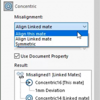 SOLIDWORKS Concentric Mate Misalignment