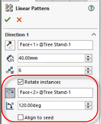 Rotate Instances options