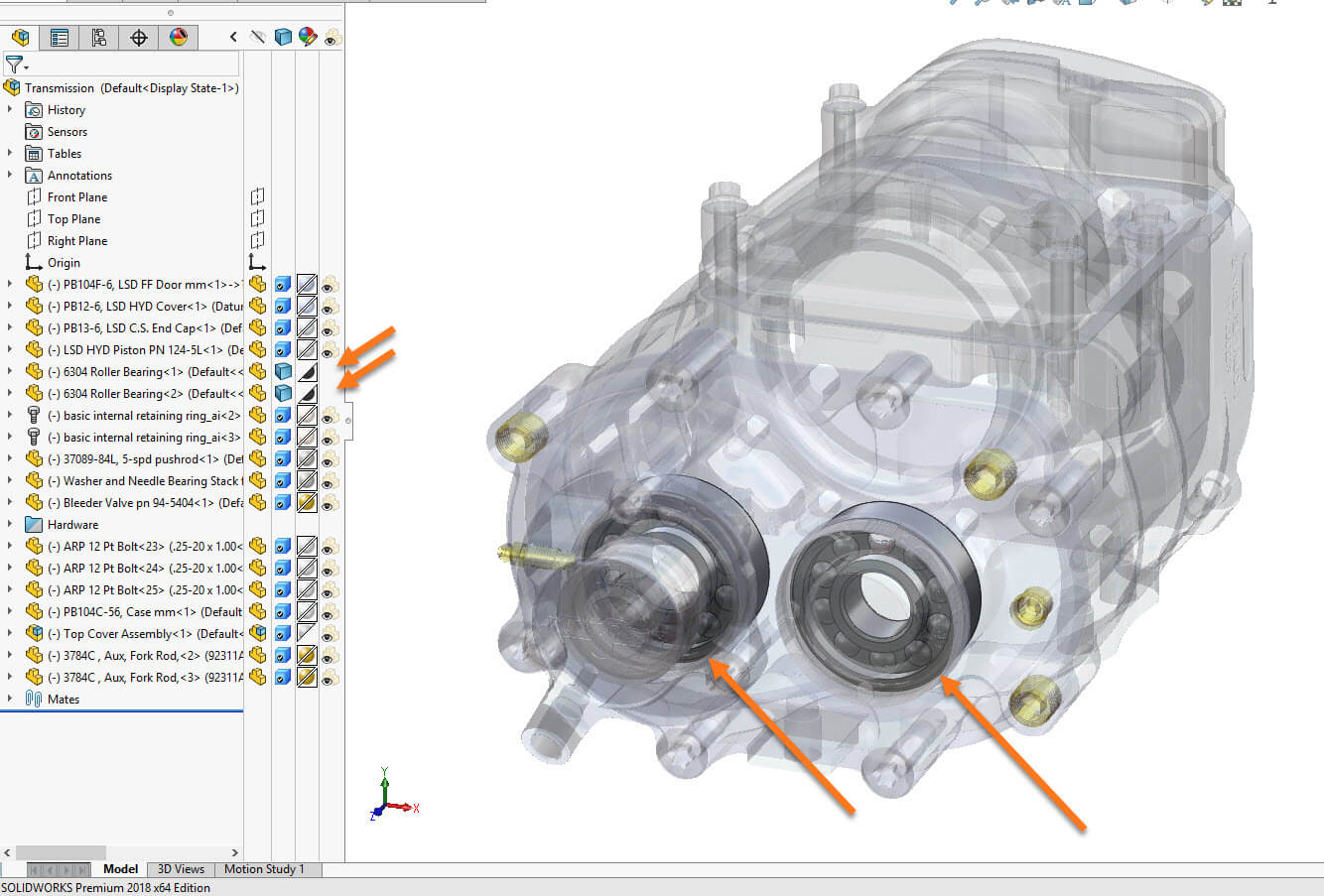 New Top Level Transparency for ALL components in SOLIDWORKS 2018