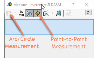 SOLIDWORKS Measure Tool