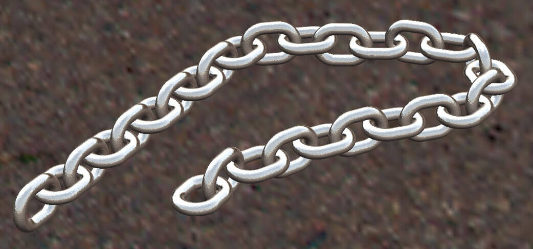 SOLIDWORKS Chain design using features and pattern