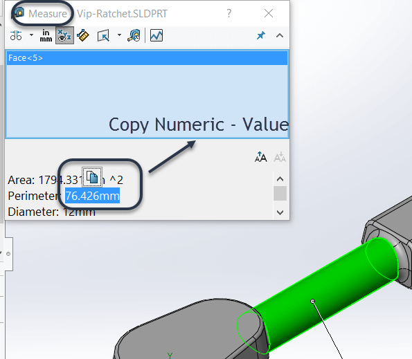 Quick Copy of Numeric Value