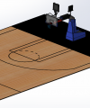 SOLIDWORKS Motion Basketball shot