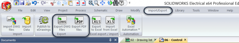 SOLIDWORKS Electrical PDF Export