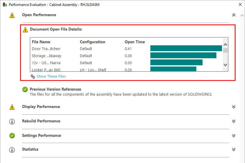 SOLIDWORKS 2018 Performance Evaluation Tool