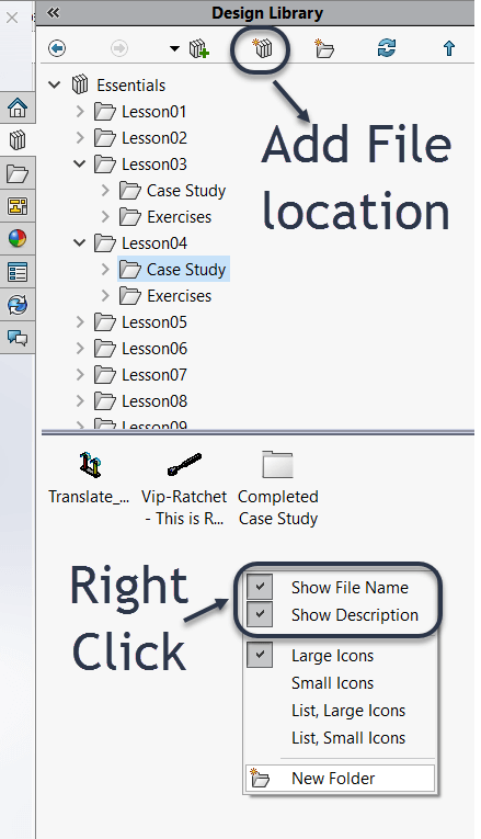 SOLIDWORKS 2018 Design Library