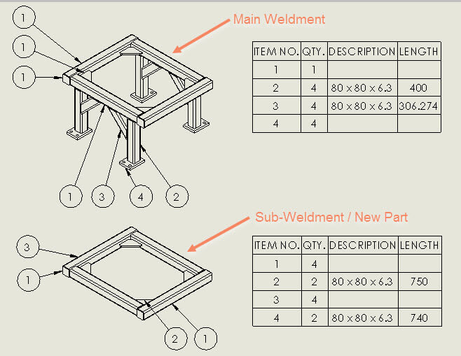 inventor frame how to make a cut list