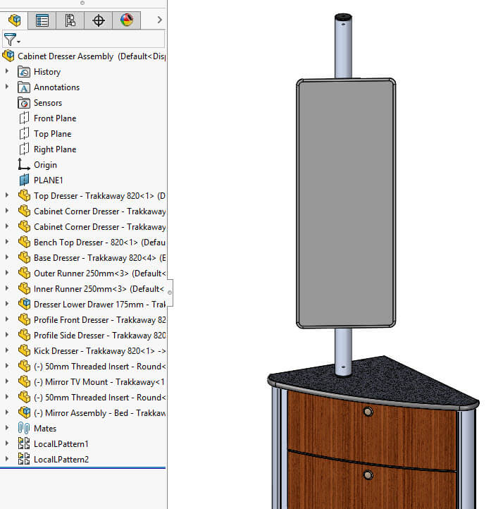 SOLIDWORKS Assembly Tree Lowercase Characters