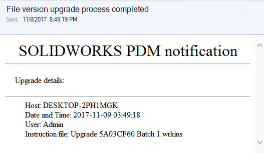 File Version Upgrade Notification - Completed