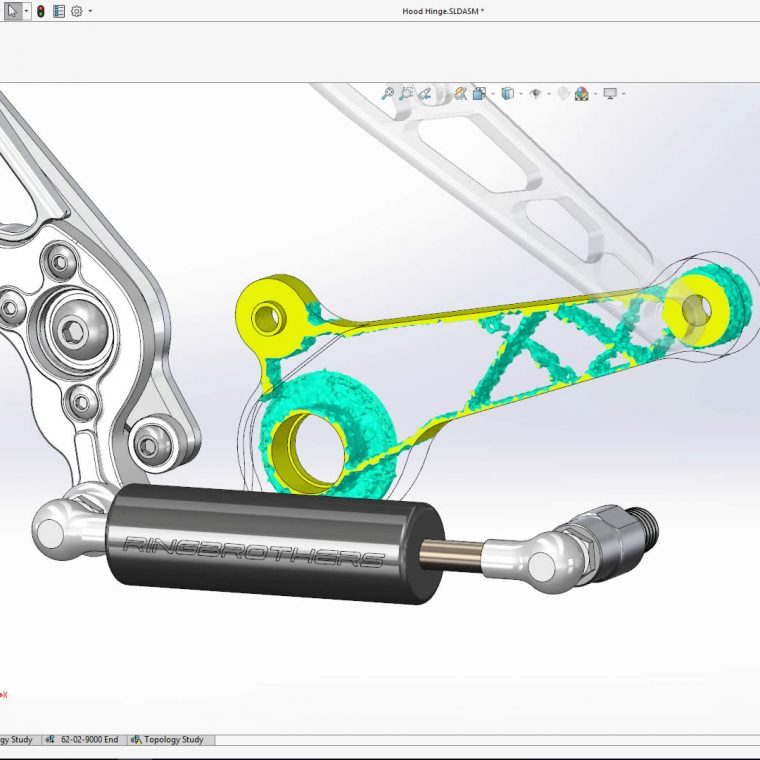 SOLIDWORKS Simulation Topology Study