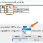 SOLIDWORKS 2018 Can Create and Attach STEP Files to eDrawings Files