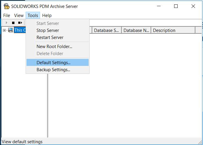 SOLIDWORKS PDM Archive Server