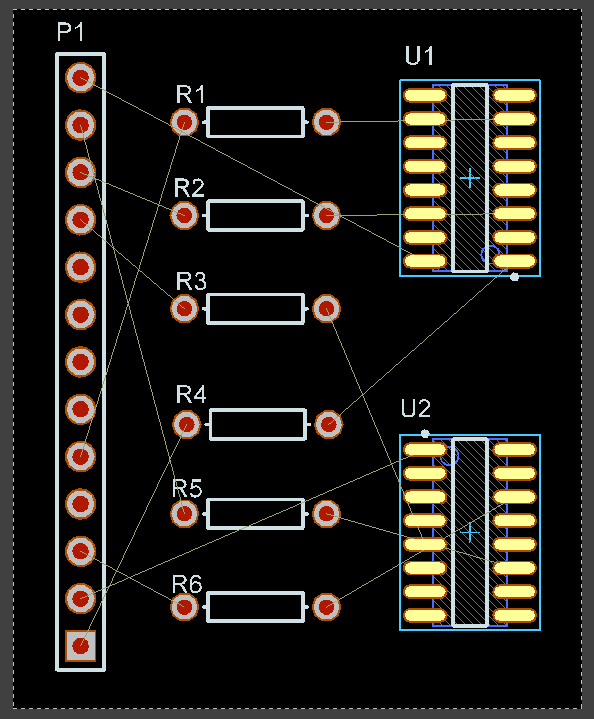 Net Crossovers Prior to Pin Swapping
