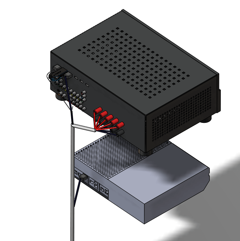 Routing makes it easy to perform a visual check of the connection information. Wire, cable, and harness colors can all be defined in SolidWorks Electrical Schematic.